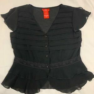 Black Blouse Size 6
